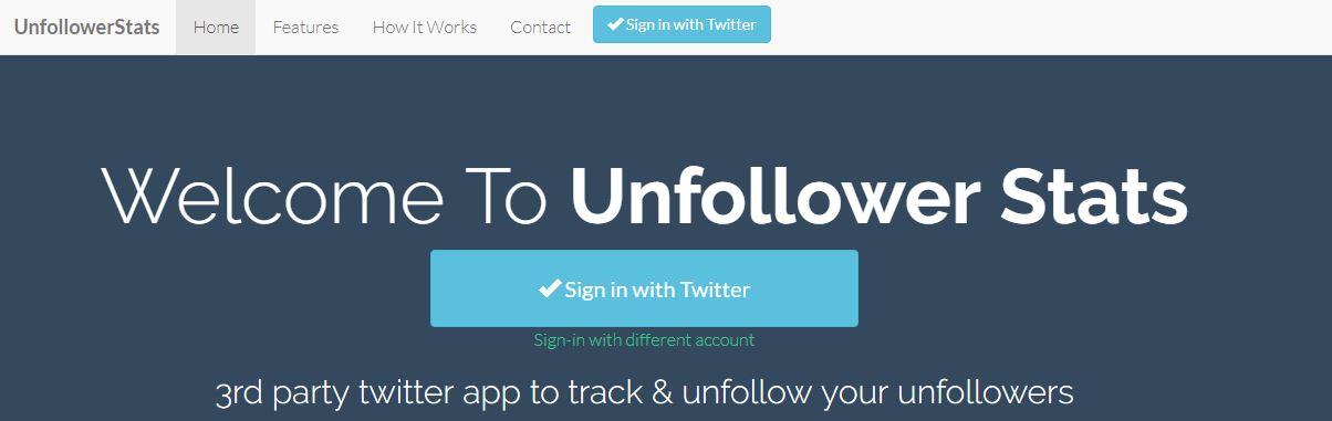 Unfollowerstats Twitter Tool