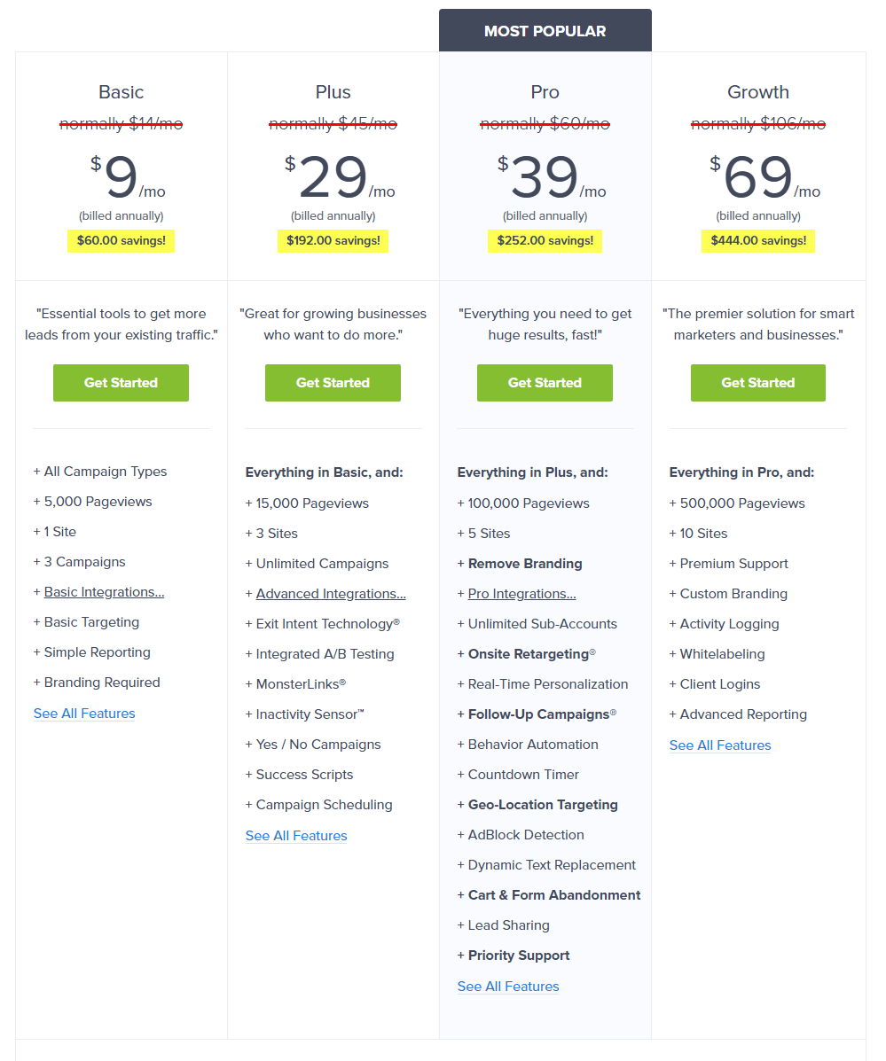 optinmonster review pricing
