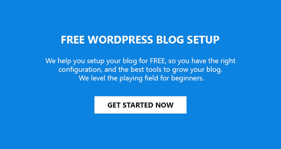 free wordpress blog setup service for woblogger readers