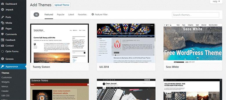 start-a-blog-add-theme
