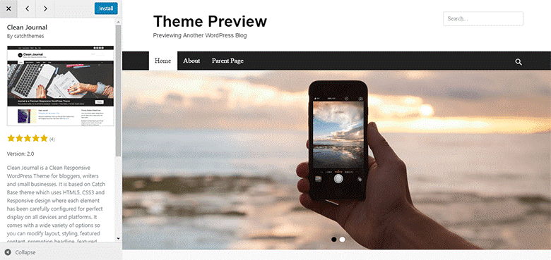 start-a-blog-theme-preview