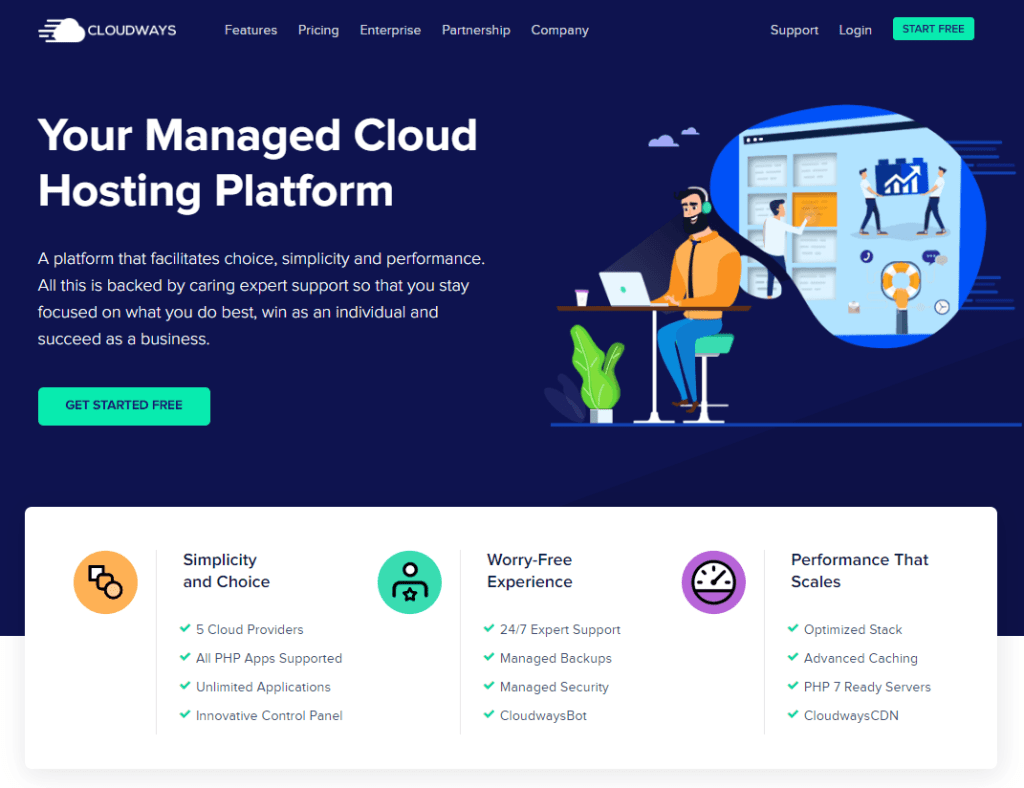 cloudways reviews homepage