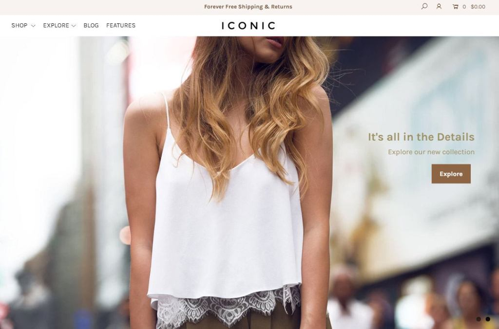 iconic shopify theme