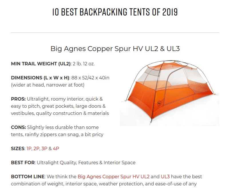 backpacking tent affiliate marketing basics for beginners