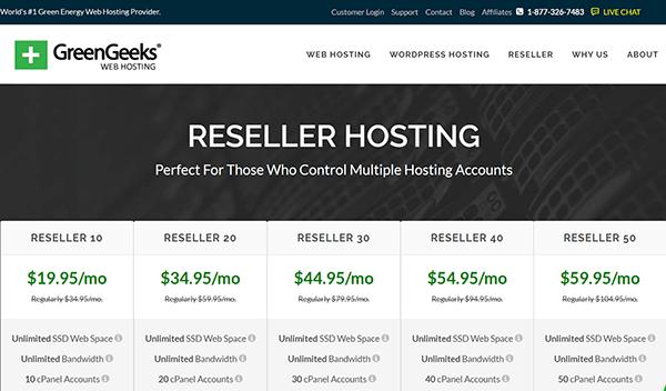 greengeeks reseller hosting review