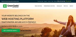 greengeeks review homepage