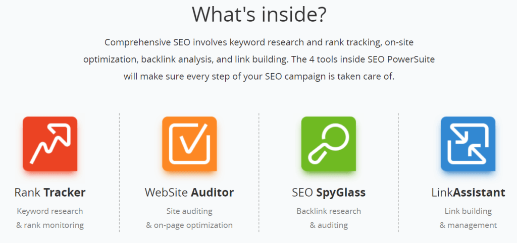 seo powersuite review what's inside