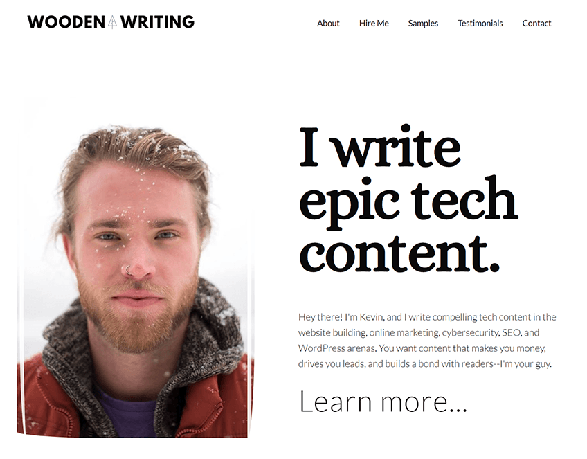 kevin woodman woodenwriting freelance business website