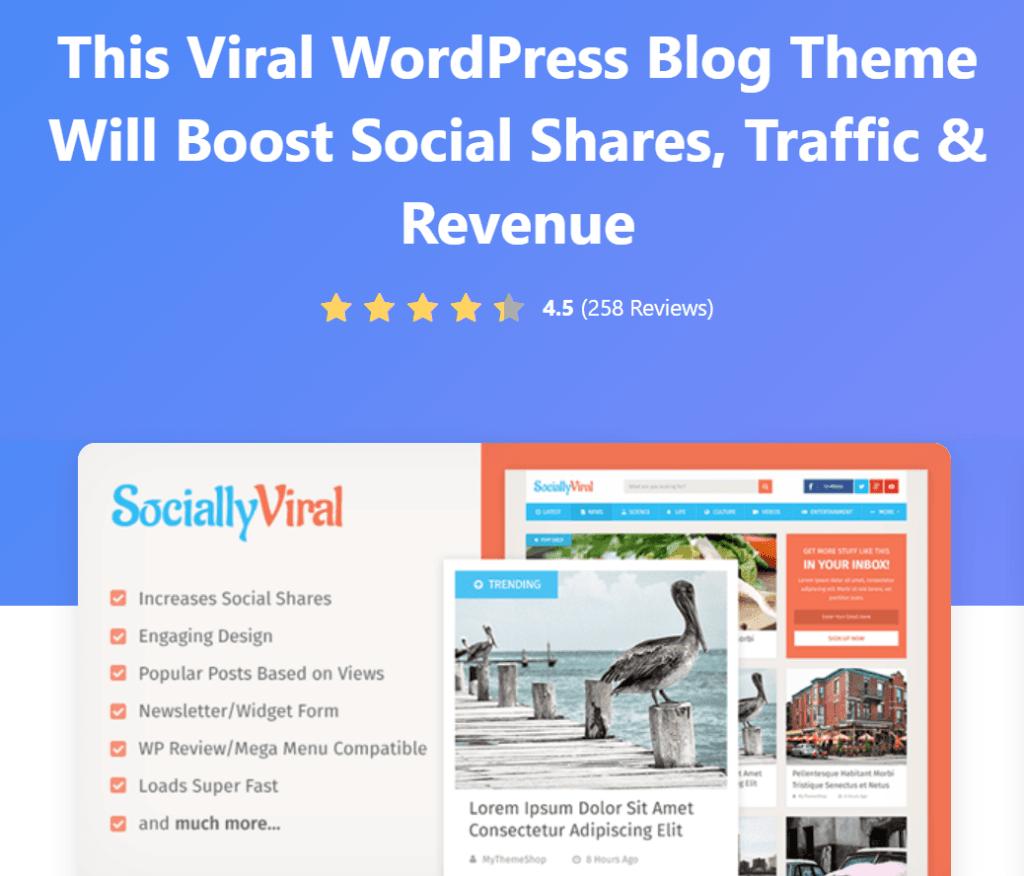SociallyViral WordPress Blog Theme
