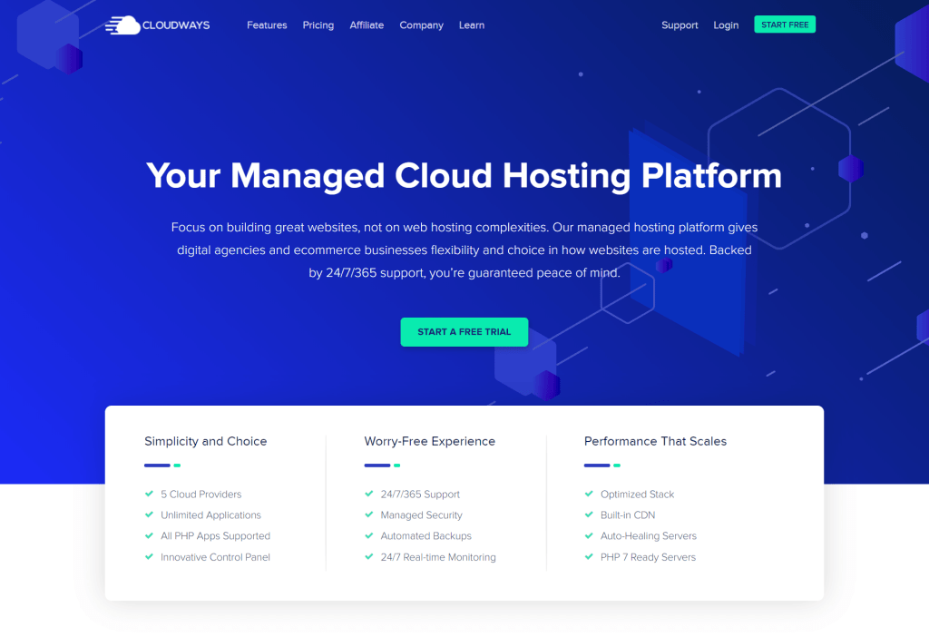 cloudways best managed cloud hosting new homepage