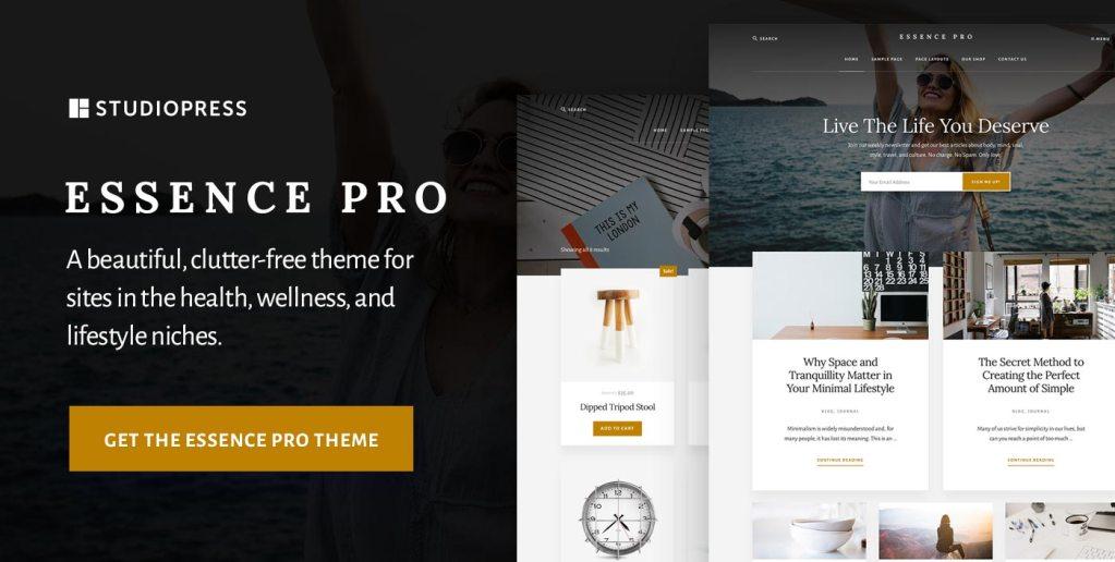 Recommended WordPress theme: Essense Pro by StudioPress