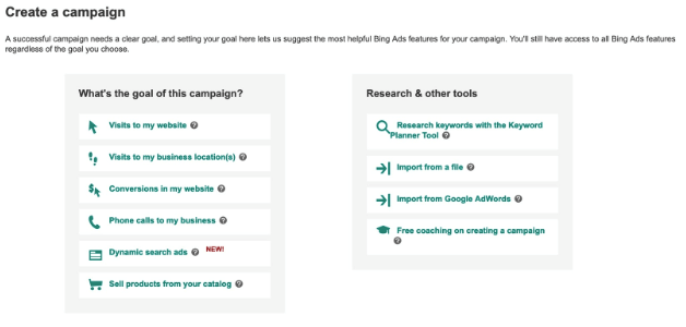 Creating Your First Bing Ads Campaign