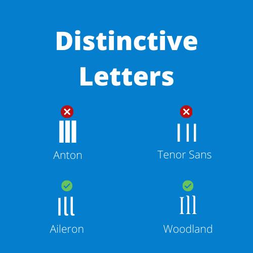 Distinctive Letters image