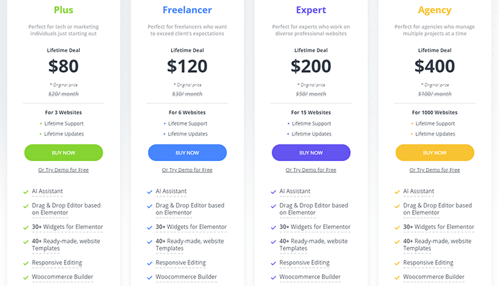 10Web Builder Pricing