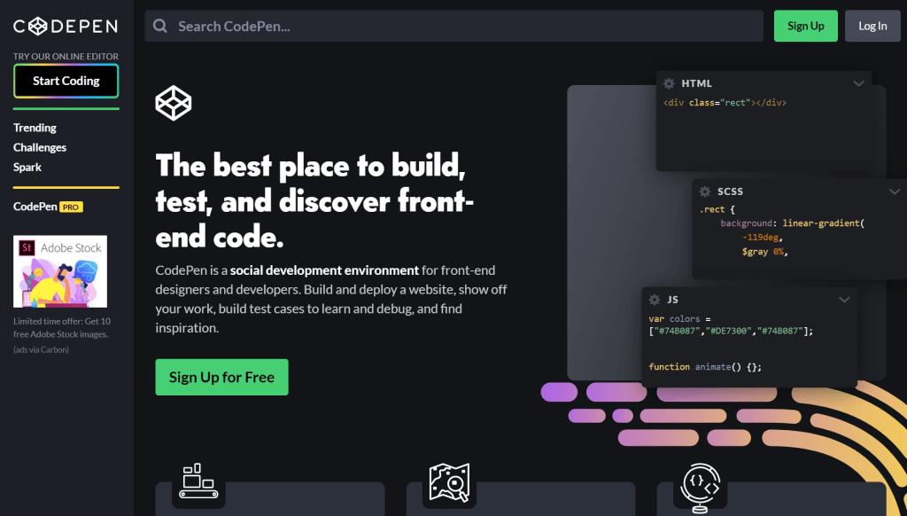 CodePen site