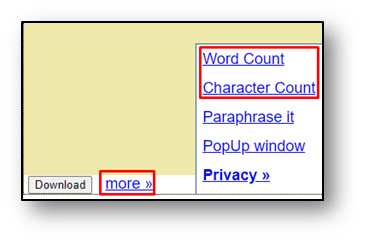 Word and charactor count