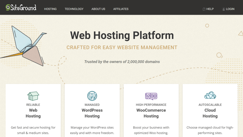 SiteGround Hosting Review Homepage