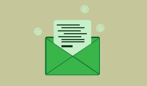 Formal email writing envelope