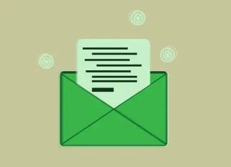 Formal email writing envelope
