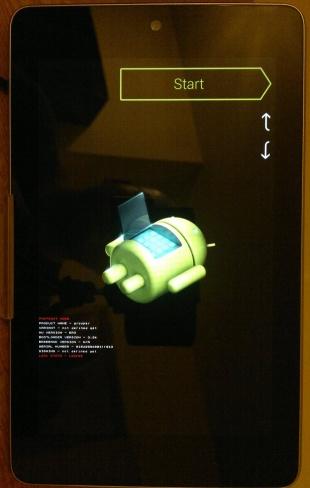 Nexus 7 in Recovery Mode