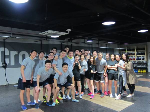 L'equipe de CrossFit Gangnam