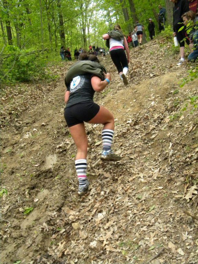 Une competition de CrossFit ®* en colline