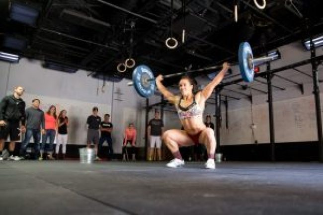 Camille Leblanc-Basinet does Amanda at the CrossFit ®* HQ gym.