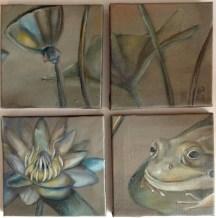 POND QUARTET | 2013 | oil on small canvas tiles