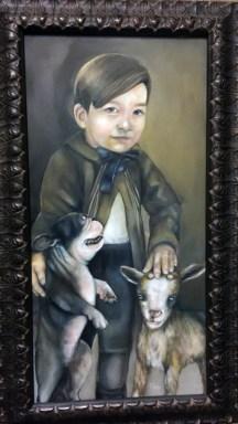 "EDWARD | 2014 | oil on canvas, 12"" x 24"""