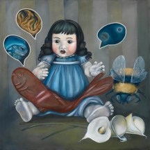 "SOOTHSAYING | 2011 | oil on canvas, 25"" x 25"""