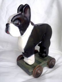 FINNSTER THE BOSTON TERRIER PULLTOY