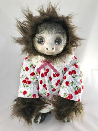 Baby Sloth in Cherry Pajamas