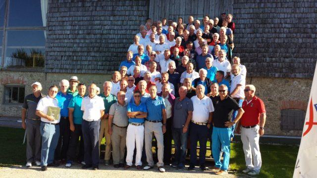 Alle Teilnehmer in bester Laune nach dem Match auf dem Platz des GC. Berchtesgadener Land