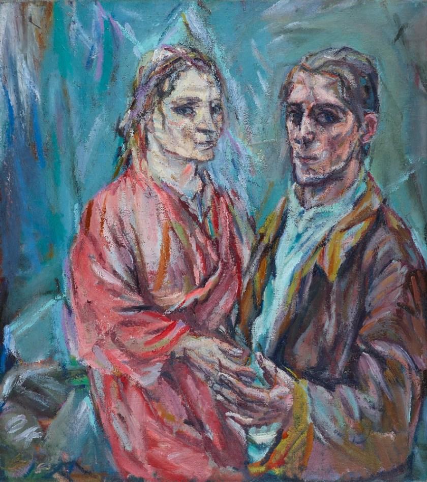 Doppelbildnis Oskar Kokoschka und Alma Mahler, 1912/13 Öl auf Leinwand 100 × 90 cm Museum Folkwang, Essen Foto: Museum Folkwang, Essen/Artothek © Fondation Oskar Kokoschka/Bildrecht Wien, 2019