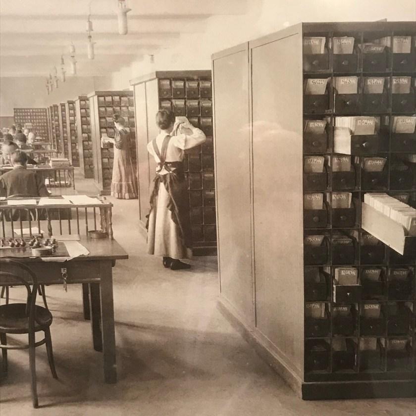 Großraumbüro vor 100 Jahren