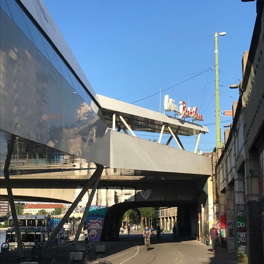 Schiffstation bei der U4 Schwedenplatz