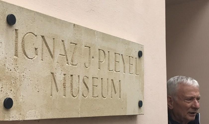 Pleyel Museum mit dem Obmann Adolf Ehrentraud