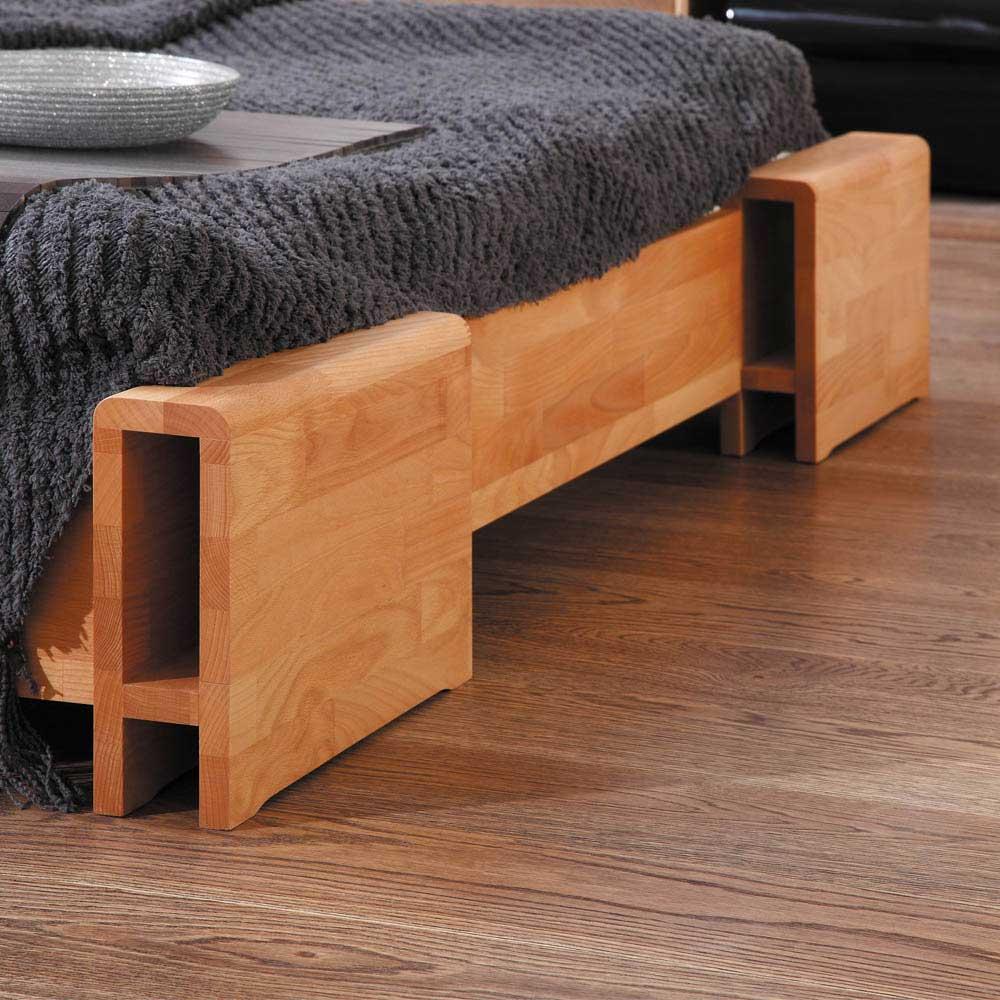 Modernes Holzbett Caballo Aus Buche Massivholz Wohnende