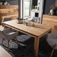 Massiver Wildeiche Holztisch fürs Esszimmer in drei Größen ...