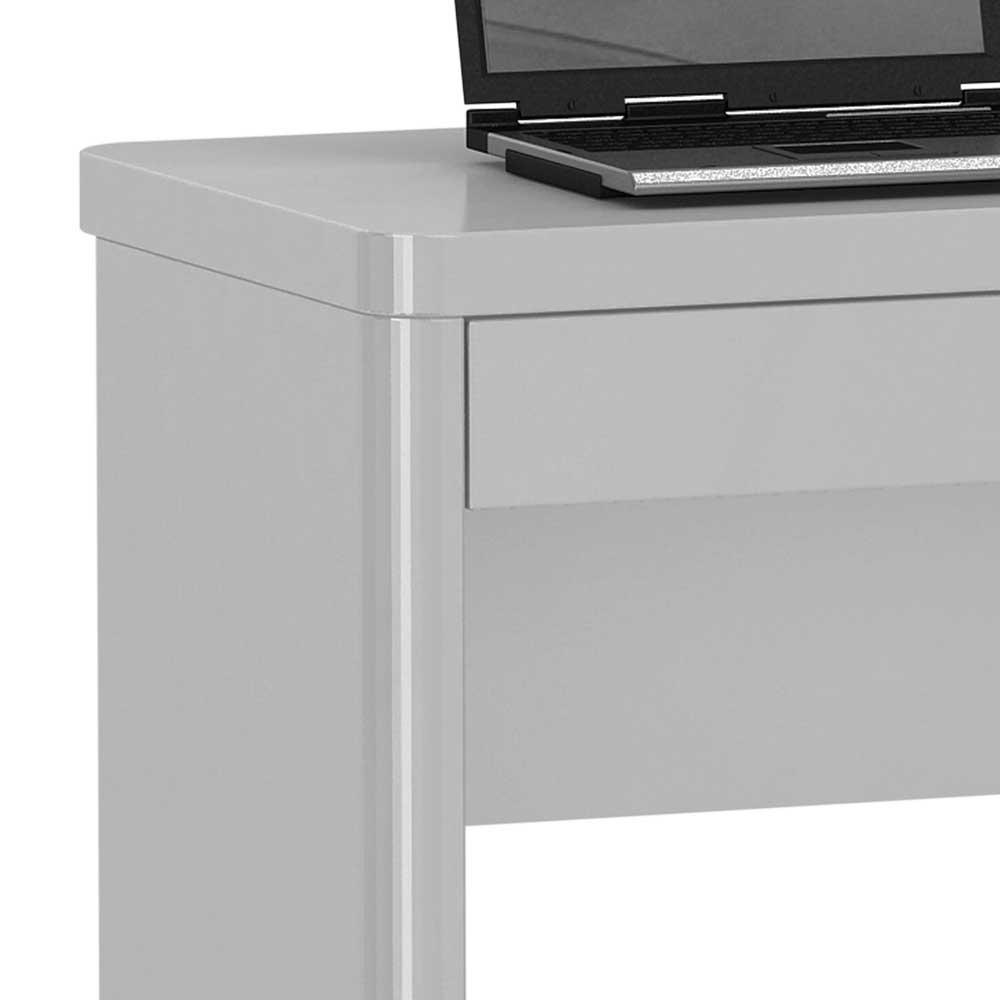 PC Tisch Trevoz In Hochglanz Wei Mit Schublade Wohnende