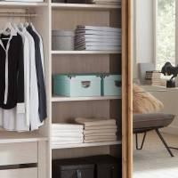 Schwebetüren Kleiderschrank mit Beleuchtung & Spiegel ...