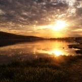 Sonnenuntergang am Bergsee
