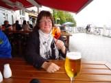 Das erste Sommergetränk in Warnemünde!