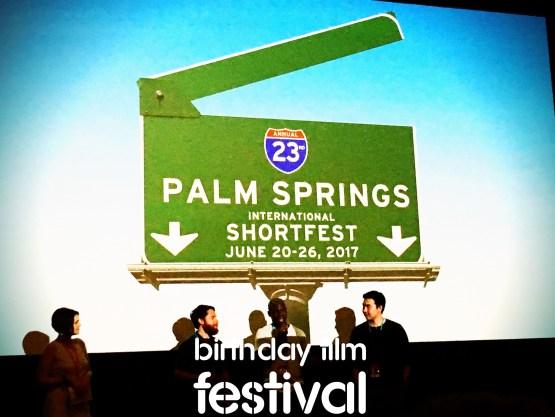 Kurzfilm-Festival. Der Film-Regisseur rechts gewann einen Preis fuer sienen Film!