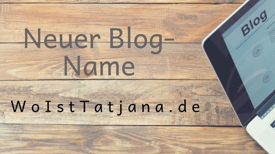 Neuer Blog-Name