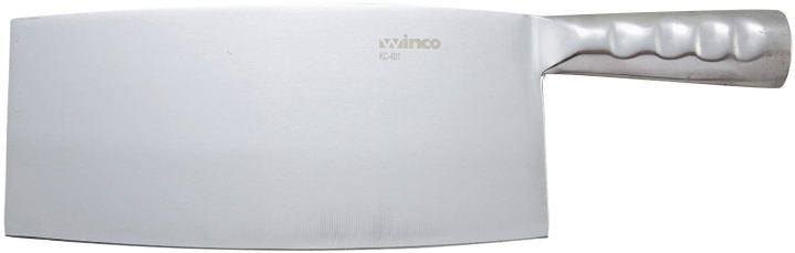 WINCO Chinese Cleaver with Stainless Steel Handle