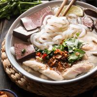 Vietnamese Chicken Tapioca Noodle Soup (Bánh Canh Gà)