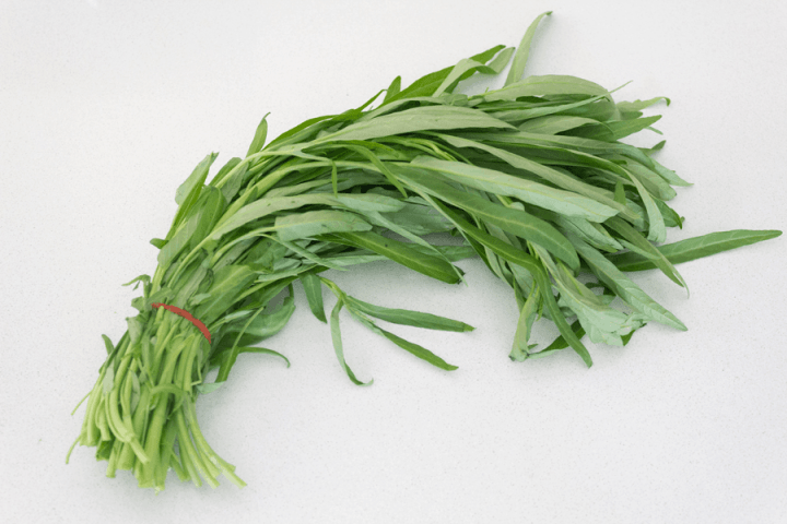 Water spinach in a bundle