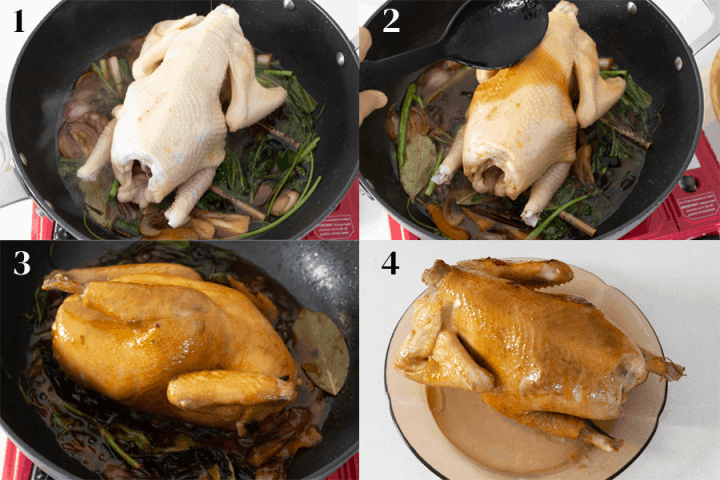 Four Cup Chicken Steps