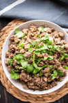 Pork mince in a bowl